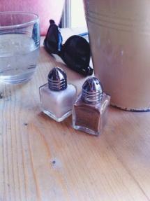 Cute tiny salt & pepper shakers